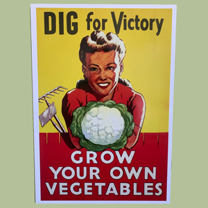 Dig for Victory Retro Poster