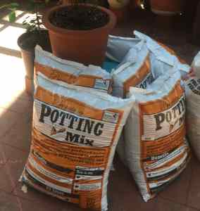 potting mix bags